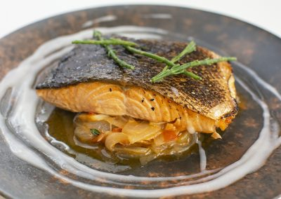 Salmon and coconut